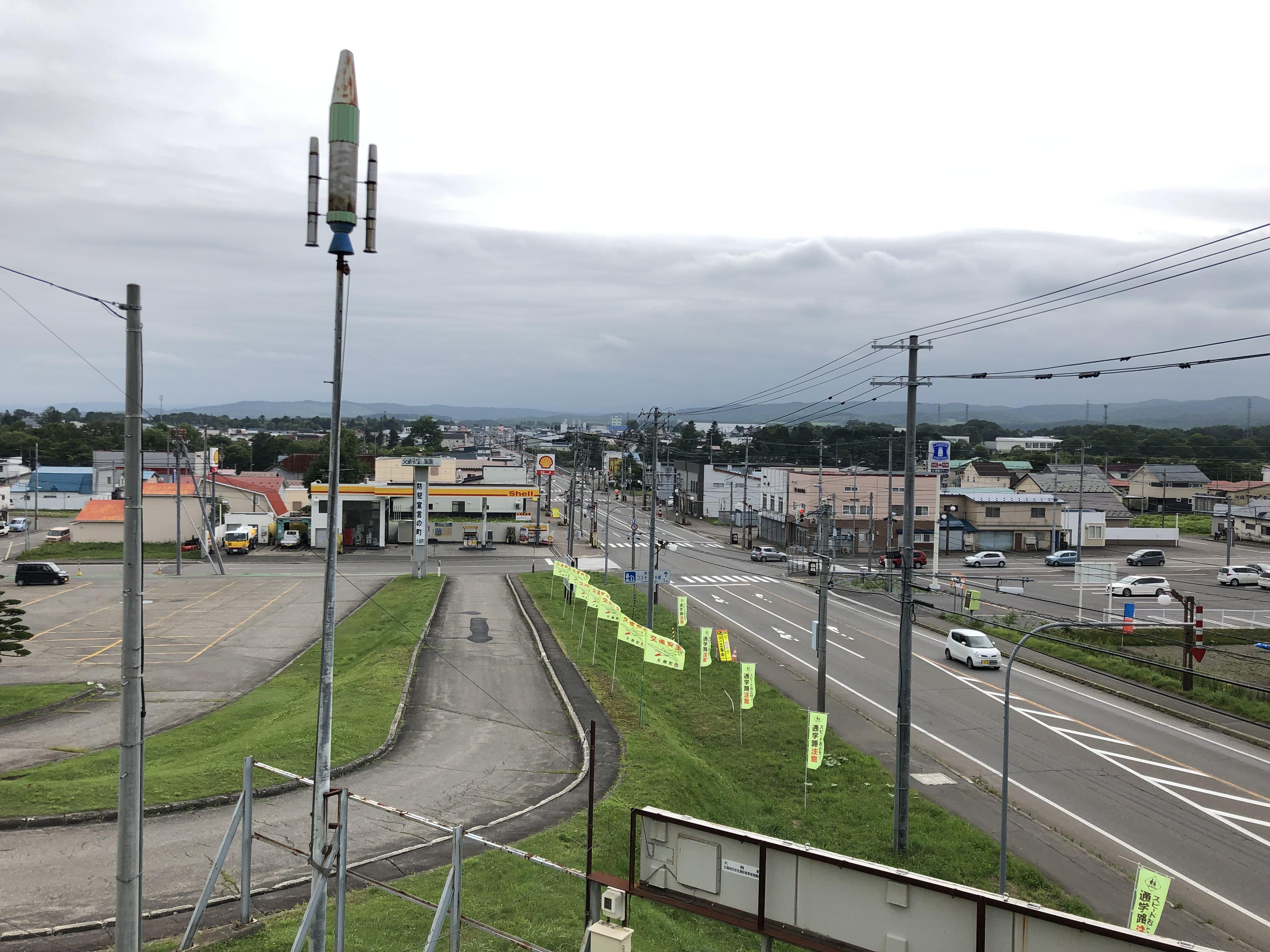 町の風景。